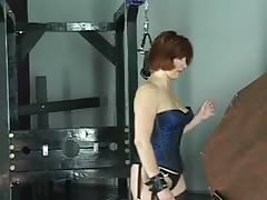 Mistress makes cheerleader get on her knees and pulls her hair Thumb