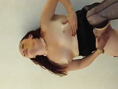 Norma Jene Young Red Head Gets DP/Anal hard Thumb