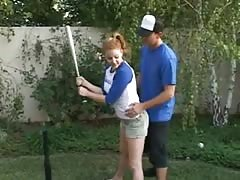 He teaches girls to play baseball after than fuck anal Thumb