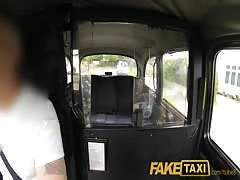 FakeTaxi Young black haired British chick fucking a taxi driver Thumb
