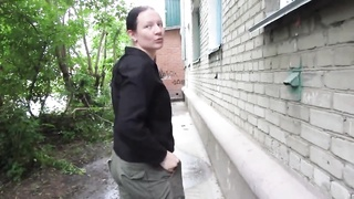 Russian Sweetheart Peeing In A Public Place Thumb