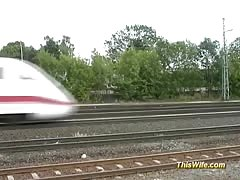 Train fucking with nasty wife Thumb