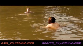 asia zo and andrea sky- public water strip game Thumb
