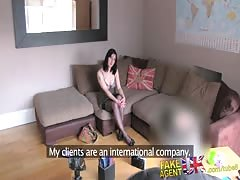 FakeAgentUK Creampie for naughty British nurse who teased agents cock Thumb