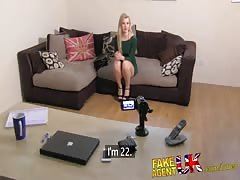 FakeAgentUK Stunning portuguese chick gets eyes glued shut in casting Thumb