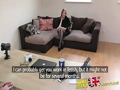 FakeAgentUK Amateur Brit with strong fetish look conned into sex casting Thumb