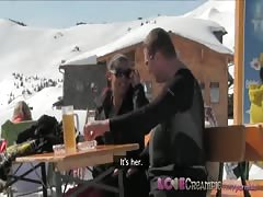 Love Creampie Sporty ski babe gets pussy filled with spunk in the Alps Thumb