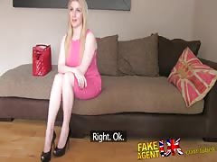 FakeAgentUK Busty blue eyed Scottish chick gets creampie in fake casting Thumb