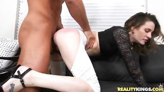 Milf gets fucked in her sexy looking outfit Thumb