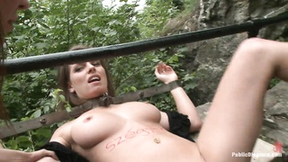 Well shaped natural titted European in public Thumb