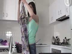 Girls Out West - Hairy cutie in the kitchen Thumb