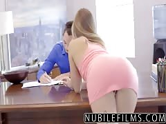Cock Riding Assistant Sydney Cole Fucks Boss on Desk Thumb