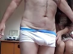 Straight bear with girl fuck on a desk Thumb