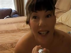 Dirty talking anal milf glass dildo Thumb