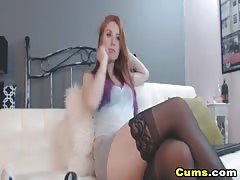 Stunning Redhead Teen Close Up Dildo Pussy Masturbation Thumb