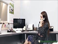 Daughter Bambi Brooks Slutty Secretary Experience With Stepfather Thumb