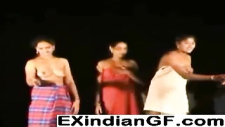 Indian strippers showing off their shaven orifices Thumb