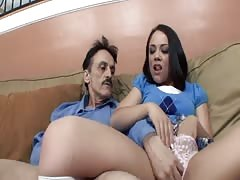 Kristina Rose deepthroats Step-Dad's dick Thumb
