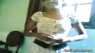 Cute Indian Teen Girl Washes Her Body Thumb