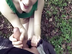Barely legal girl outdoor fuck with a facial Thumb