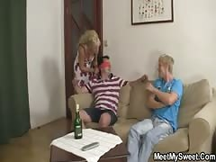 His perverted parents lure her into threesome Thumb