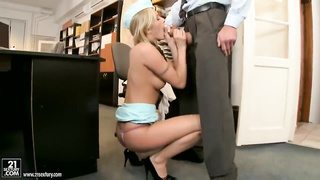 Slim blonde stewardess Jenny gets banged hard Thumb