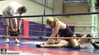 Community girl-friends Aleska Diamond and Celine Sweetheart hope to dominate at exactly the ring Thumb