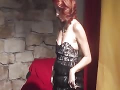 Horny redhead MILF gets fingered and fucked hard after lapdancing Thumb
