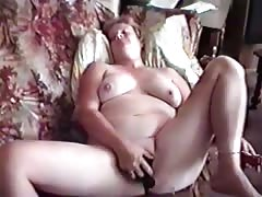 Chubby young slut with a vibrator. Thumb