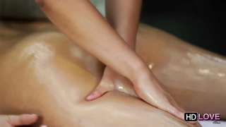 An extremely passionate girl-on-girl massage Thumb