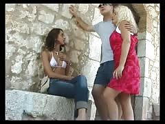 White couple plays with French Arab girl's asshole Thumb
