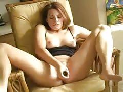 20'ish YO Gal Fucks Her Dildo and Squirts Thumb