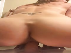 Swollen Big Pussy Lips Clit Bouncing On A Dildo Thumb