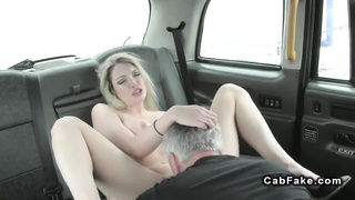 Huge-boobed blond nails in cab in public Thumb