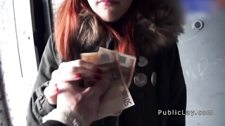 Spanish redhead amateur in public flashing titties Thumb
