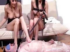 Mistress educates NOT her sister to treat submissive arab Thumb
