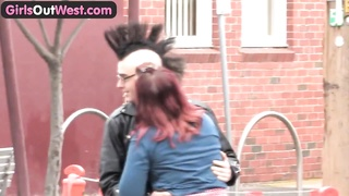 Bombshells Out West - Inexperienced punk couple drilling Thumb