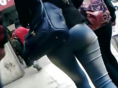 Hermoso culo lechazo en calle Cum public on beautifull ass Thumb