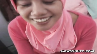 Arab amateur wife homemade blowjob and fuck with facial Thumb