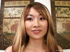 Hot Asian Has Real Orgasm Thumb