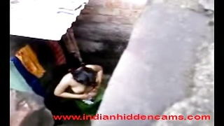 next door indian gal taking hit the showers recorded by her neighbor Thumb