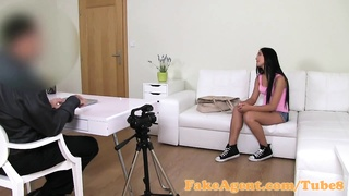 FakeAgent 18 year aged cutie got laid hard in interview Thumb