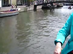 Dutch Milf on a spring flashing trip trough town Thumb