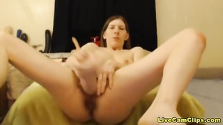 Ugly bitch has a hairy pussy and enormous dildo hardcore Thumb
