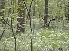Wild Outdoor Orgy in the Woods Thumb