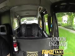 FakeTaxi Lesbian Gets tricked into taking big cock Thumb