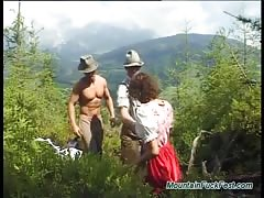 extreme threesome sex in nature Thumb