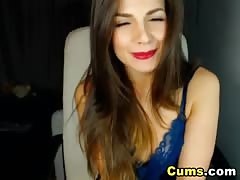 Hot Lady Strips and Plays her Pussy Thumb