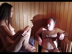 hot sauna with not my dad Thumb