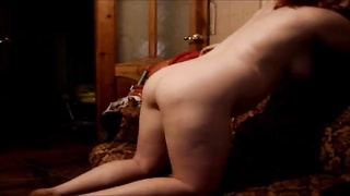 Curvaceous doll is screwing hard in her heavy booty! Thumb
